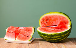 Frieshly sliced wattermelon Stock Photography