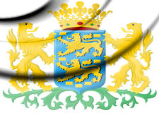 Friesland Coat of Arms, Netherlands. Stock Image