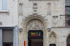 Friet muzeum Smaży muzeum w Brugge zdjęcie stock