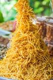 Frieten of Chips in dienblad Royalty-vrije Stock Foto