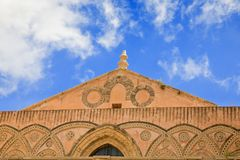 Frieze of ancient medieval Duomo di Monreale Stock Photography