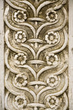 Frieze carved. Detail of a frieze carved in stone of the church Caramanico in Abruzzo Royalty Free Stock Images