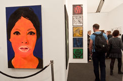 Frieze Contemporary Art Fair London. Stock Images