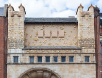Frieze on the front of the Whitechapel Gallery, London Stock Photography