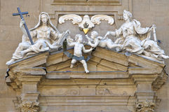 Frieze over Palazzo Vecchio side entrance Royalty Free Stock Images