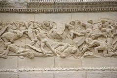 Frieze sculpture of Roman battle against the Gauls Stock Photo