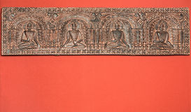 Frieze showing Indian Gods   Stock Photography