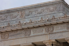Frieze of U.S. States on the Lincoln Memorial Royalty Free Stock Images