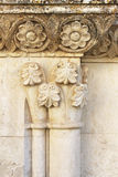 Friezes and capitals of the middle ages Royalty Free Stock Photo