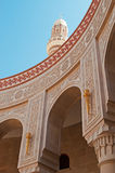 Friezes, decorations of the Saleh Mosque, Sana'a, new building, place of worship, prayer, dome, minaret, columns, Yemen. The Old City of Sana'a, the oldest royalty free stock photos