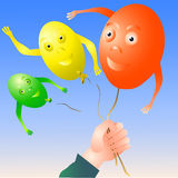 Frigör ballonger Royaltyfri Bild