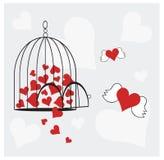 frigör förälskelse Arkivbild