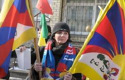 frigör posteringen tibet Royaltyfri Fotografi