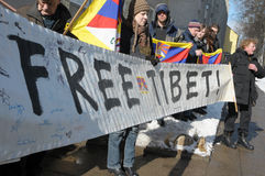frigör posteringen tibet Arkivbilder