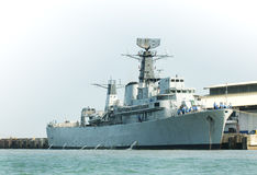 Frigate. At berth Stock Photography