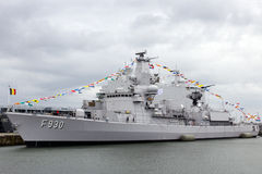 Belgian Navy Frigate Stock Images