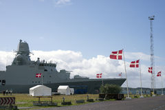 Frigate in Fredericia royalty free stock photos
