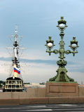 Frigate Grace and light the Troitsky Royalty Free Stock Photo
