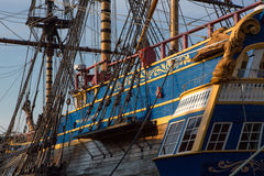 Frigate in harbor of Goteborg, Sweden Royalty Free Stock Image