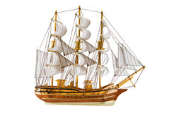 Frigate isolated Stock Image