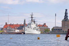 The frigate PEDER SKRAM in Copenhagen Stock Photos