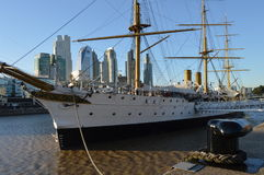 Frigate Sarmiento. Puerto Madero, Buenos Aires, Argentina Royalty Free Stock Image