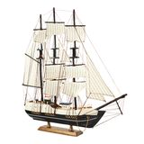 Frigate ship toy model Stock Images