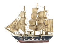 Frigate ship toy model Royalty Free Stock Photos