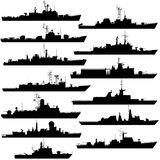 Frigates and corvettes Royalty Free Stock Photography