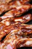 Friggere le nervature del barbecue fotografia stock