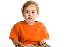 Frighted kid Stock Photography