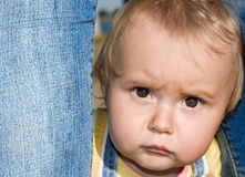 The frightened babe-2. Little girl Stock Images