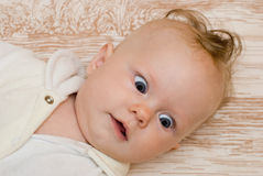 Frightened baby Stock Images