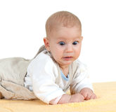 Frightened baby boy Stock Photos