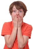 Frightened boy Stock Photography