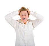 Frightened boy royalty free stock photography
