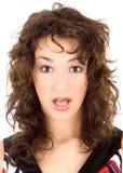 Frightened brunette Stock Photos