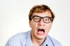 Frightened businessman Royalty Free Stock Photography