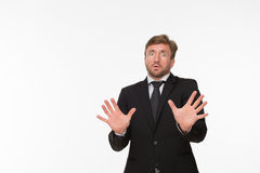 Frightened businessman Stock Photos