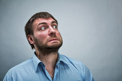 Frightened businessman Royalty Free Stock Images