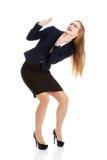 Frightened businesswoman Stock Photo