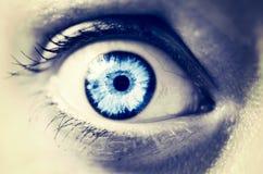 Frightened female eye close up Royalty Free Stock Image