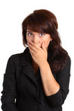 Frightened Girl Stock Photography