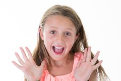 Free Frightened Girl Holding Screaming Out Loud Isolated Royalty Free Stock Photo - 129297315
