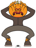 Frightened Halloween Monster Stock Images