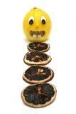 Frightened Lemon Stock Photo