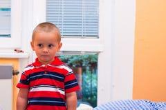 Frightened little boy Royalty Free Stock Photo