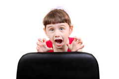 Frightened Little Girl Royalty Free Stock Images
