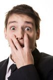 Frightened man Royalty Free Stock Images