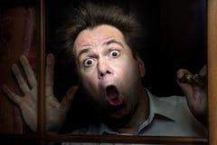 Frightened man Royalty Free Stock Photos